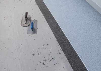 Balkonsanierung-Abdichtung-Wandspachtelung
